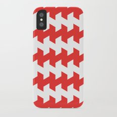 jaggered and staggered in poppy red iPhone X Slim Case