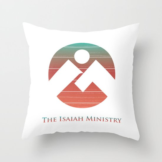 The Isaiah Ministry Logo Throw Pillow
