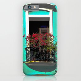 Puerto Rican balcony with flowers iPhone Case