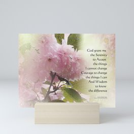 Serenity Prayer Cherry Blossom Glow Mini Art Print