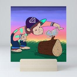Dubious Paul Smokes a Fatty Mini Art Print
