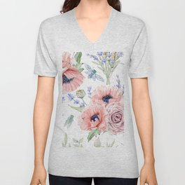 Fall Country Flowers Unisex V-Neck