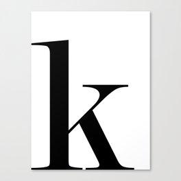 "Monogram Series Letter ""K""  Canvas Print"