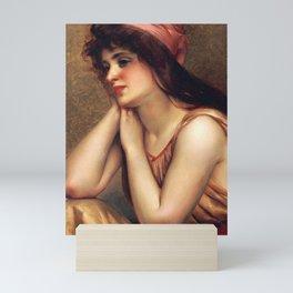 "Luis Ricardo Falero ""A moment's pause"" Mini Art Print"