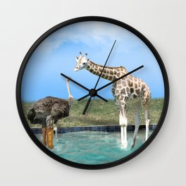 The Ostrich with Galoshes Wall Clock