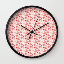 Jumping Starfish, in pink Wall Clock