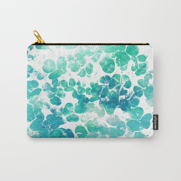 Clover Watercolor #society6 #decor #buyart Carry-All Pouch