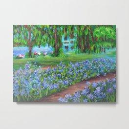Monet's Garden AC20110715a Metal Print