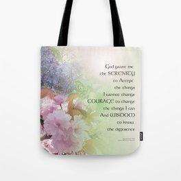 Serenity Prayer Spring Flowers Tote Bag