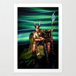 King Loki, Chillaxin' Art Print
