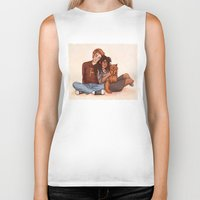 hermione Biker Tanks featuring Ron and Hermione by Susanne