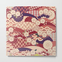 Chiyogami Metal Print