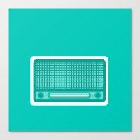radio Canvas Prints featuring radio by brittcorry