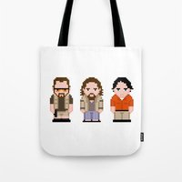 lebowski Tote Bags featuring The Big Lebowski  by PixelPower