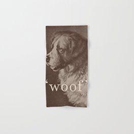 Famous Quotes #1 (anonymous dog, 1941) Hand & Bath Towel