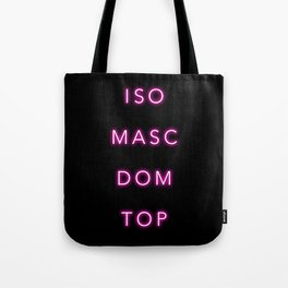 ISO MASC DOM TOP Tote Bag