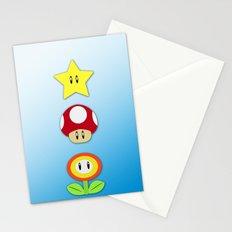 Super Mario Bros Star, Mushroom and Flower Stationery Cards