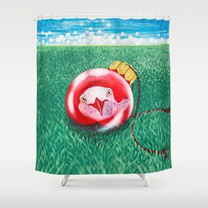 New Year Ball Shower Curtain