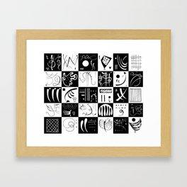 Kandinsky - Black and White Pattern - Abstract Art Framed Art Print