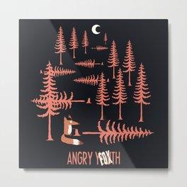 Angry Fox Metal Print