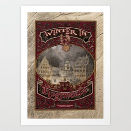 Winter in Hogsmeade - The Three Broomsticks Art Print