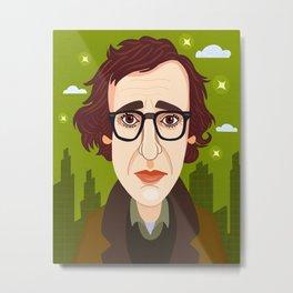Woody Allen Metal Print