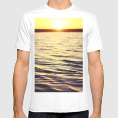 Sunset at Bodega Mens Fitted Tee SMALL White