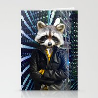 rocket raccoon Stationery Cards featuring ROCKET RACCOON by Walko