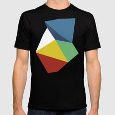 Abstraction Zoom 2X-LARGE Mens Fitted Tee Black