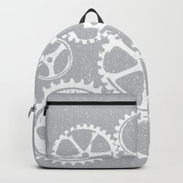 Old vintage rusty gears - white & gray Backpack