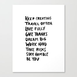 Resolutions Canvas Print