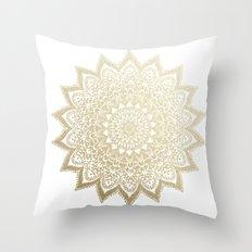 BOHO NIGHTS GOLD MANDALA Throw Pillow