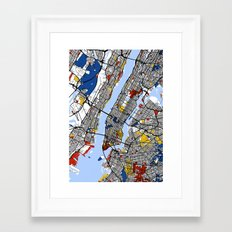 New York Mondrian Framed Art Print