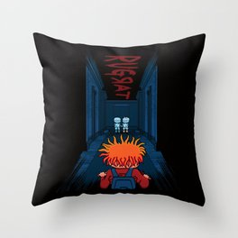 Horror Hotel Throw Pillow
