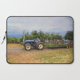 Hayride At The Apple Orchard Laptop Sleeve