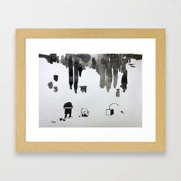 missed blocks Framed Art Print