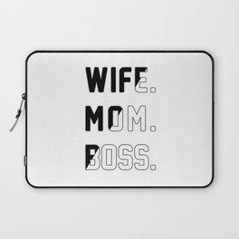 Wife Mom Boss Laptop Sleeve