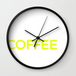Coffee Print, Coffee Drinkers Gift Product Wall Clock