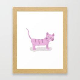 Pinky Cat Framed Art Print