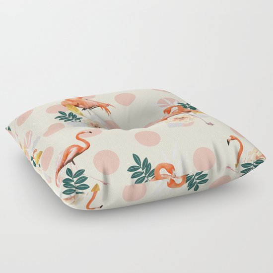 Flamingo Jazz #society6 #decor #pattern Floor Pillow by 83 Oranges Society6