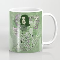 snape Mugs featuring Portrait of a Potions Master by Karen Hallion Illustrations