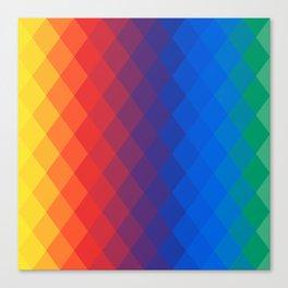 Rainbow geometric pattern Canvas Print