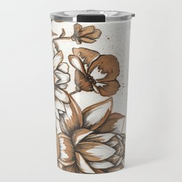 Coffee Art- Flowers Travel Mug