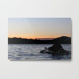 Sunset Kayak Metal Print