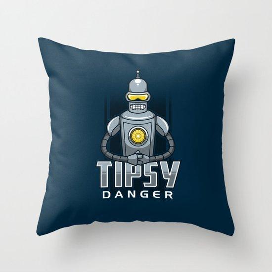 Tipsy Danger Throw Pillow