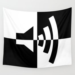 Black and White Sound Wall Tapestry