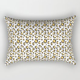 Cheetah print Gray and yellow Rectangular Pillow