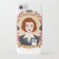 heymonster iPhone & iPod Cases featuring Dana Scully by heymonster