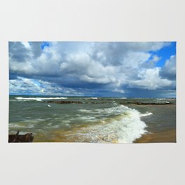 Waves at Whitefish Point Rug