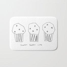 Sweet Sweet Life - cupcake illustration Bath Mat
